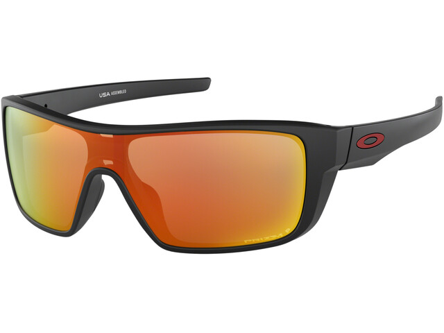 Oakley Straightback Sunglasses Matte Black/Prizm Ruby Polarized